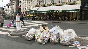 Paris no longer perfumed as striking rubbish collection workers leave stink across city [Video]