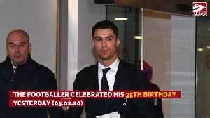 Cristiano Ronaldo celebrates his 35th birthday with his family [Video]