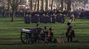 Gun salutes fired to mark Queen's 68 years on the throne [Video]