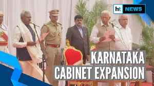 Watch: Karnataka CM Yediyurappa's expands Cabinet, 10 new ministers inducted [Video]