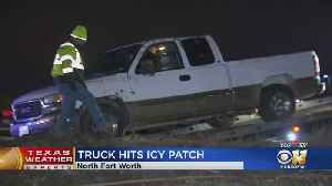 Icy Roads Blames For Rollover Crash In Fort Worth [Video]