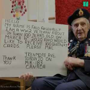 All This War Vet Wants For His 100th Birthday Are Cards From Canadians [Video]