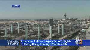 American Airlines To Suspend Flights To, From Hong Kong [Video]