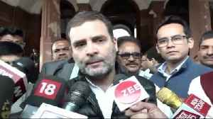 BJP don't want my voice to be heard in Parliament: Rahul [Video]