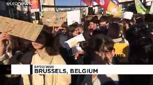 One thousand march in Brussels for Youth for Climate [Video]