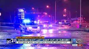 Officers shot last night in Anne Arundel County out of surgery [Video]