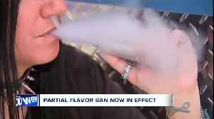 Starting today, a ban on certain flavored vaping cartridges is in effect, as the FDA pushes to clear the market of many of these [Video]