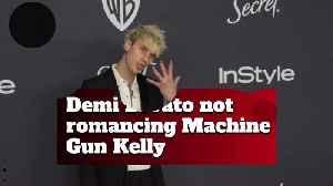 Demi Lovato not romancing Machine Gun Kelly [Video]