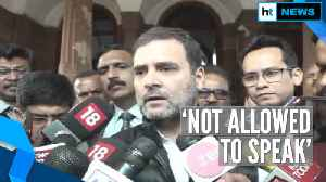 News video: Not allowed to speak: Rahul slams Harsh Vardhan over ruckus in Parliament