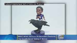 There's A New Lamar Jackson Bobblehead. He's Riding A Raven [Video]