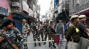News video: Security forces march through Shaheen Bagh as polling continues in Delhi