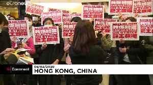 Hong Kong medical workers demand total closure of China border [Video]