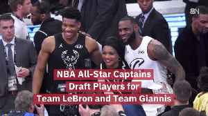 Team LeBron And Team Giannis Start Drafting [Video]