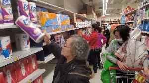 "Hong Kong residents ""panic buy"" toilet paper amid coronavirus fears [Video]"