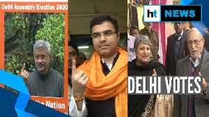 News video: Watch | Delhi polls 2020: EAM Jaishankar, Lt Guv Anil Baijal cast their votes