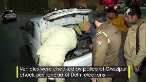 Delhi polls Police checks vehicles at border areas [Video]