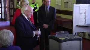 President Michael D Higgins votes in Irish General Election [Video]