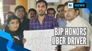BJP honors Uber driver who alerted about pasenger's 'anti-CAA call' [Video]