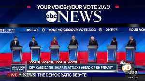 News video: Dem candidates sharpen attacks ahead of NH Primary
