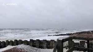 Storm Ciara covers coast near Bexhill with seafoam [Video]