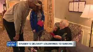 Brunswick students deliver Valentine's Day cards to seniors with help from 2 Cavs legends [Video]