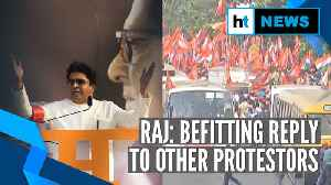 Mumbai: Amid CAA debate, Raj Thackeray's MNS marches against illegal migrants [Video]