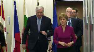 Nicola Sturgeon meets with Michel Barnier in Brussels [Video]
