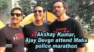 Akshay Kumar, Ajay Devgn attend Maha police marathon [Video]