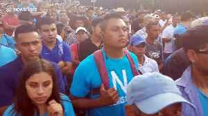 Thousands of Salvadorans gather to demand the country's congress to approve $109m loan to better equip police force [Video]