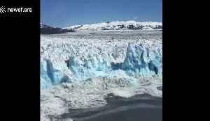 Rare footage captures massive glacier calving in Alaska [Video]