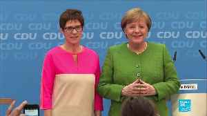 Designated Merkel successor Kramp-Karrenbauer won't run for chancellor role [Video]