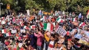 Anti-CAA protest at Jantar Mantar [Video]