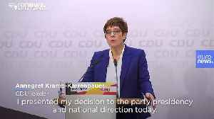 Merkel successor Annegret Kramp-Karrenbauer to quit after vote debacle [Video]