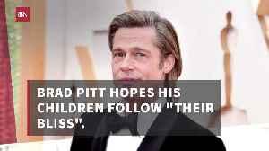 Brad Pitt's Goals For His Kids [Video]