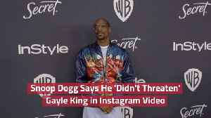 Snoop Dogg's Post About Gayle King [Video]