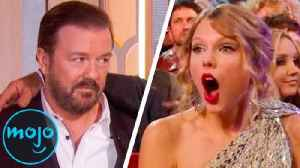 Top 10 Times Celebrities Got Embarrassed at Award Shows [Video]