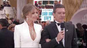 Antonio Banderas Oscars 2020 Red Carpet Interview [Video]