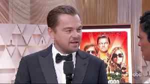Leonardo DiCaprio Oscars 2020 Red Carpet Interview [Video]