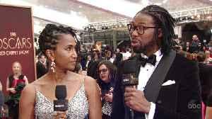 Matthew A. Cherry and Karen Rupert Toliver on the Oscars 2020 All Access Red Carpet [Video]