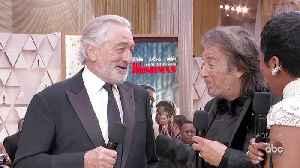 Robert DeNiro and Al Pacino Oscars 2020 Red Carpet Interview [Video]