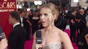 Scarlett Johansson on the Oscars 2020 All Access Red Carpet [Video]