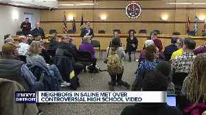 Community members meet in Saline following viral video of racist remark [Video]