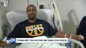 After routine surgery left him paralyzed, Copley basketball coach Antoine Campbell is staying positive [Video]