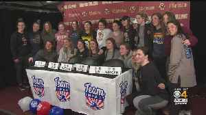 15-Year-Old Battling Tumor Joins Boston College Women's Ice Hockey Team [Video]