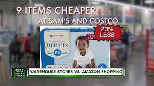 Here are the 9 things almost always cheaper at Sam's Club or Costco [Video]