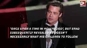 Brad Pitt wants his kids to 'follow their bliss' [Video]