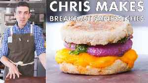 Chris Makes Breakfast Sandwiches [Video]