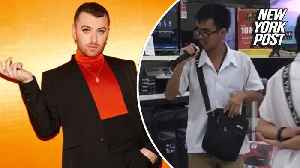 Carl Malone Montecido sings Sam Smith's 'Too Good At Goodbyes,' leaving shoppers in awe [Video]