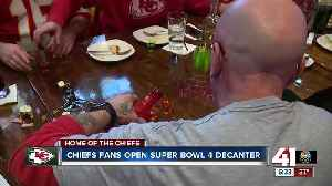 Chiefs fans open Super Bowl 4 decanter [Video]