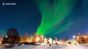 Northern lights 'dance' in a stunning display above Finnish city [Video]